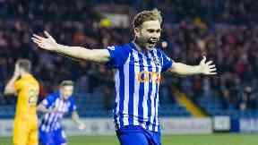 Marksman: Stewart scored eight Premiership goals for Kilmarnock.