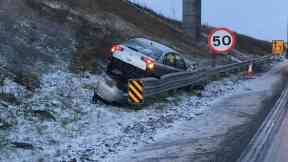 Winter: Crashes have occurred.