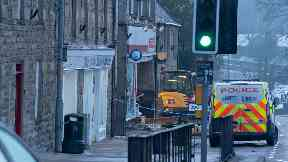 Moray: Police taped off the scene.