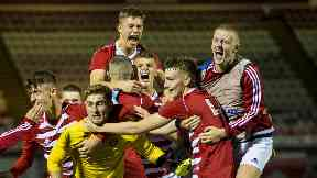 Shock: Hamilton youngsters earned a historic European win over Basel.