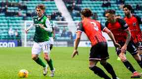 Recruit: Gauld impressed on his Hibs debut.