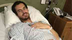 Andy Murray posted a picture of himself post-op.