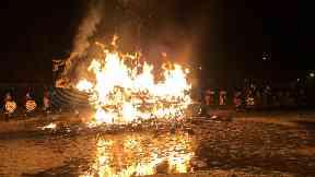 Shetland: Up Helly Aa fire festival.