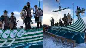The theme for the boat was Celtic FC.