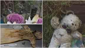 Items found in the burial plot in Edinburgh.