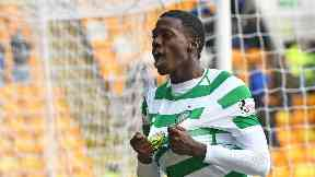 Super-sub: Timothy Weah played a key role in Celtic's win.