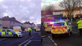 Motherwell: An air ambulance was called. (Pic by David Dornan)
