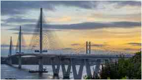 Queensferry Crossing: Work on the bridge is still to be completed.