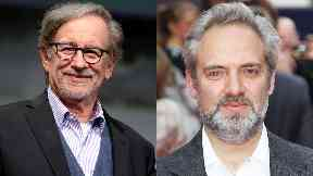 Superstars: Steven Spielberg and Sam Mendes.