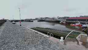 Arbroath Harbour: A man was pulled to safety.