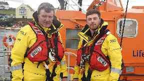 Kevin and son Jack both signed up for the RNLI.