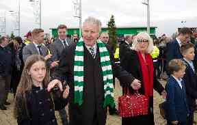 Legend: Billy McNeill at Celtic Park.