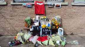Tribute: Classmates at Westhill Academy have created a memorial.
