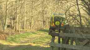 Remote: The woodland was several miles away from any reported sightings.
