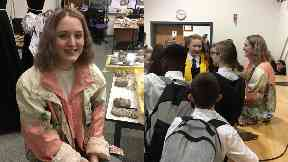Visit: Be Charlotte spoke to pupils at St Paul's RC Academy.