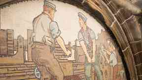 Mosaic: The panels tell the story of Inverness' past.