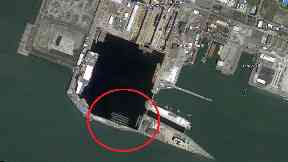 Retired: The six Rosyth submarines can be seen on Google maps.
