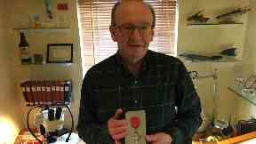 Honoured: Bob Davidson with his MBE.