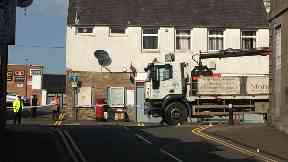 Broxburn: The street was closed for investigation works.