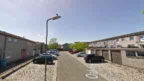 Cumbernauld: The attack happened in Oak Road.