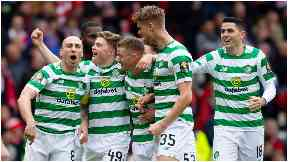Finalists: Celtic coasted past Aberdeen at Hampden.
