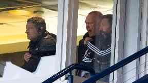 Stands: Derek McInnes was sent off.