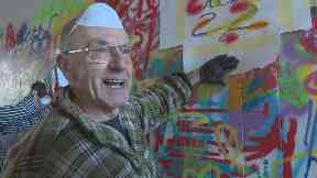 Happy: Pensioners have picked up spray cans for the first time.