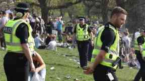 Kelvingrove: Four people were arrested.