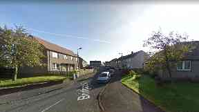 Dog attack: Bridgend Road in Avonbridge.