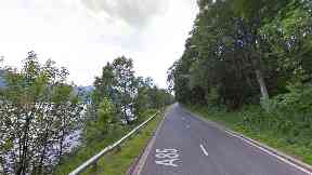 Perthshire: The alleged incident is said to have taken place on the A85.