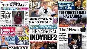 News stand: Sturgeon sets out indyref2 plan, justice at last