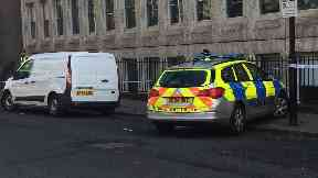 Investigation: Police have sealed off the area.