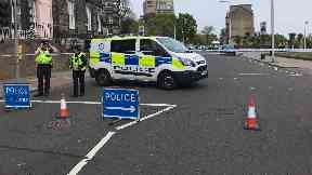 Dundee: Police have cordoned off the area.