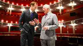 Sam Heughan welcomed Prince Charles to RCS.
