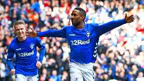 Jermain Defoe starts for Rangers with Alfredo Morelos on the bench.