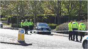 Garthdee Road: Emergency services are at the scene.