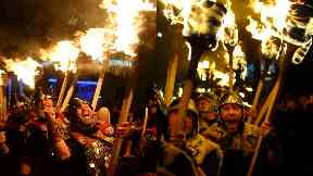 Up Helly Aa: Only men can take part in the event.