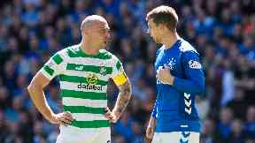 Brown and Flanagan debate the incident at Ibrox.
