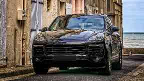 Wanted: Police are on the hunt for the Porsche Cayenne driver.