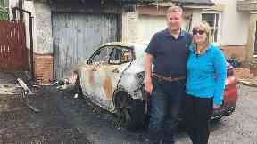 Police step up patrols after firebomb attack on councillor's car