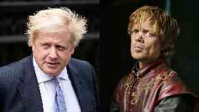 Blond bombshells: Boris Johnson and Tyrion Lannister.