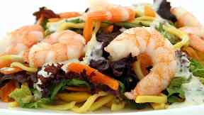 Seafood: A prawn farm has been built in Stirlingshire.