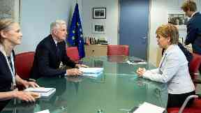 Barnier and Sturgeon held face-to-face talks.