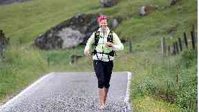 Daredevil: Anna McNuff plans to run more than 2000 miles barefoot.