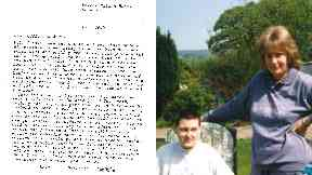 Avril, far right, claimed Margaret sent letters home.