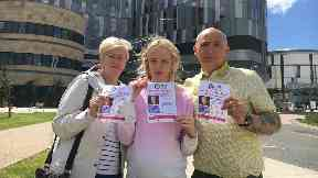 Family: Margaret and Jim Docherty with Chloe McCormick.