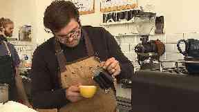 Robi Lambie runs Cairngorm Coffee in Edinburgh, which will soon go cashless.