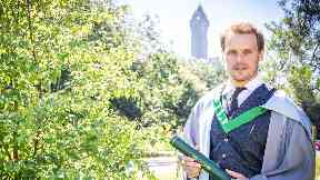 Sam Heughan: The actor receives honorary degree from Stirling University.