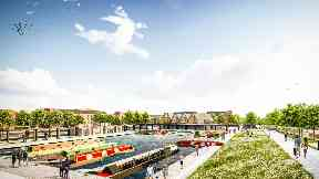Winchburgh: The new marina will be built on the Union Canal.