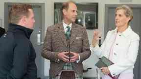 Royal visit: The Earl and Countess of Forfar.